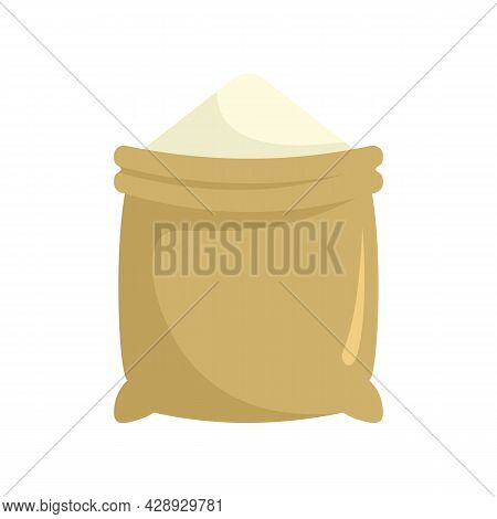 Construction Powder Sack Icon. Flat Illustration Of Construction Powder Sack Vector Icon Isolated On