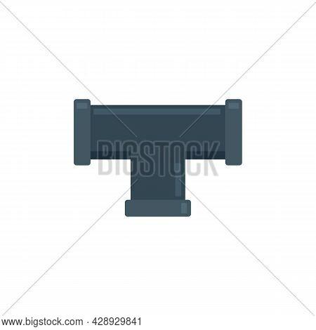 Sewage Pipe Icon. Flat Illustration Of Sewage Pipe Vector Icon Isolated On White Background