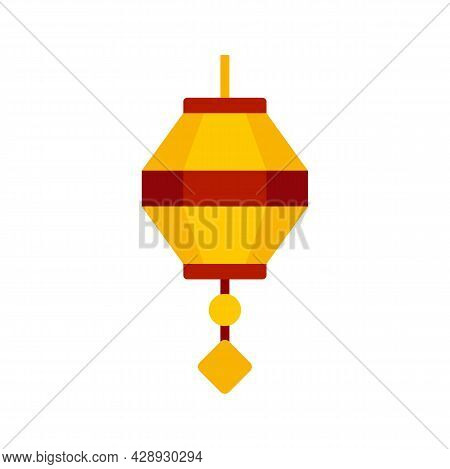 Painting Chinese Lantern Icon. Flat Illustration Of Painting Chinese Lantern Vector Icon Isolated On