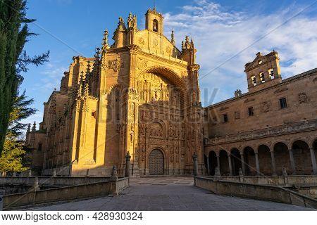 Salamanca, Spain - January 01, 2021: San Esteban Convent Of Salamanca (world Heritage Site By Unesco