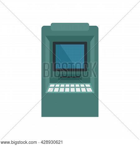 Balance Money Atm Icon. Flat Illustration Of Balance Money Atm Vector Icon Isolated On White Backgro