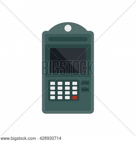 Atm Online Pay Icon. Flat Illustration Of Atm Online Pay Vector Icon Isolated On White Background