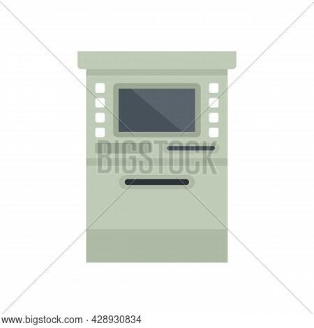 Atm Cashpoint Icon. Flat Illustration Of Atm Cashpoint Vector Icon Isolated On White Background