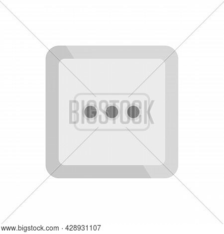 Type L Power Socket Icon. Flat Illustration Of Type L Power Socket Vector Icon Isolated On White Bac