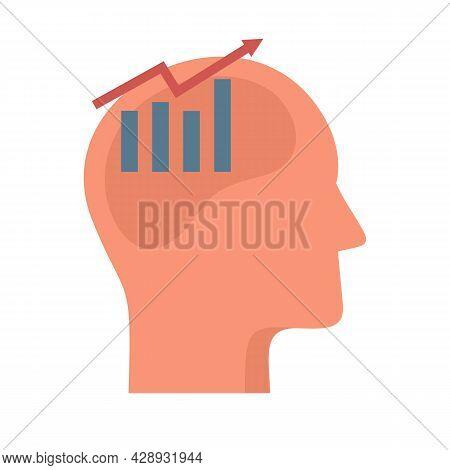 Finance Graph Neuromarketing Icon. Flat Illustration Of Finance Graph Neuromarketing Vector Icon Iso