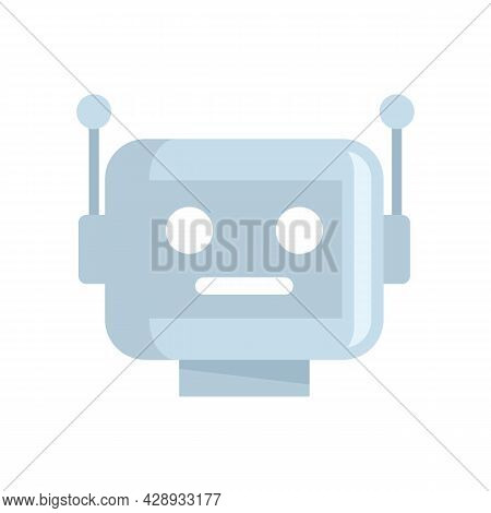 Cyber Robot Icon. Flat Illustration Of Cyber Robot Vector Icon Isolated On White Background