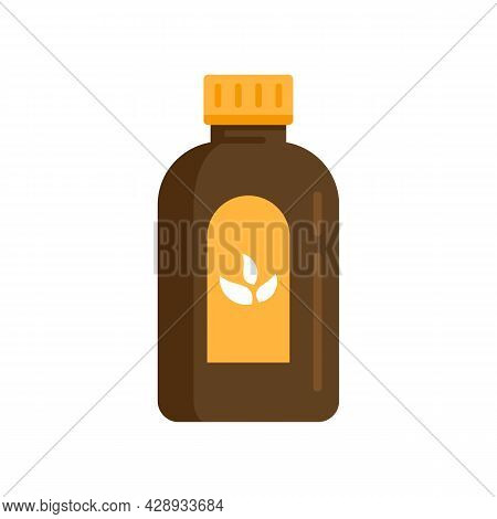 Cough Syrup Dosage Icon. Flat Illustration Of Cough Syrup Dosage Vector Icon Isolated On White Backg