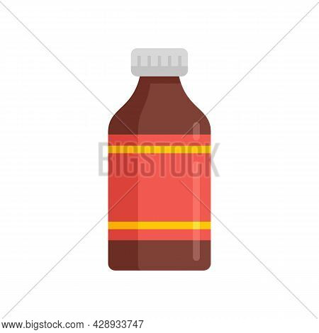 Medicine Cough Syrup Icon. Flat Illustration Of Medicine Cough Syrup Vector Icon Isolated On White B