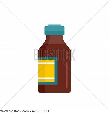 Drugstore Cough Syrup Icon. Flat Illustration Of Drugstore Cough Syrup Vector Icon Isolated On White