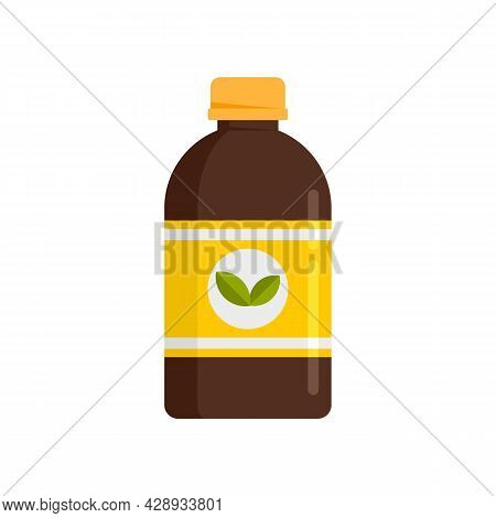 Plants Cough Syrup Icon. Flat Illustration Of Plants Cough Syrup Vector Icon Isolated On White Backg