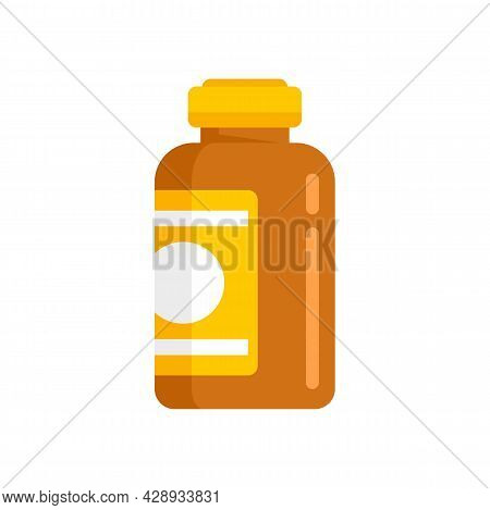 Aid Cough Syrup Icon. Flat Illustration Of Aid Cough Syrup Vector Icon Isolated On White Background