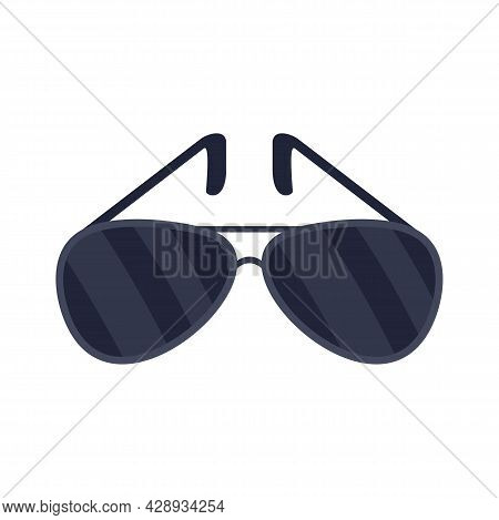 Policeman Sunglasses Icon. Flat Illustration Of Policeman Sunglasses Vector Icon Isolated On White B