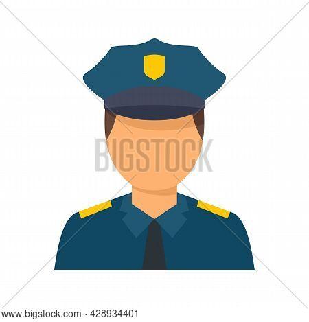Policeman Avatar Icon. Flat Illustration Of Policeman Avatar Vector Icon Isolated On White Backgroun