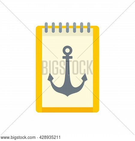 Tattoo Anchor Picture Icon. Flat Illustration Of Tattoo Anchor Picture Vector Icon Isolated On White