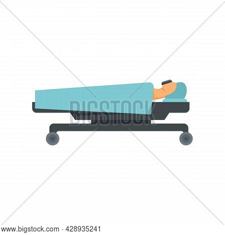 Hospital Anesthesia Icon. Flat Illustration Of Hospital Anesthesia Vector Icon Isolated On White Bac