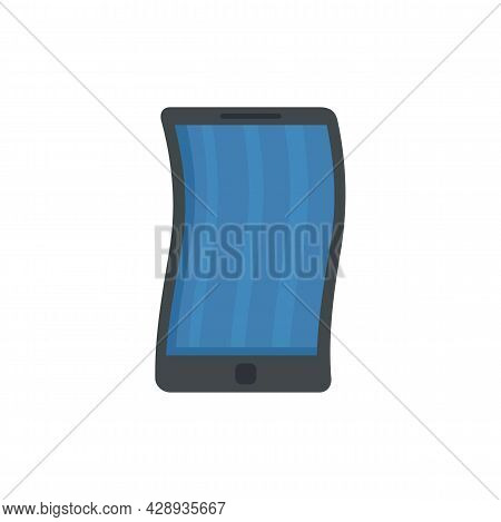 Foldable Cellphone Icon. Flat Illustration Of Foldable Cellphone Vector Icon Isolated On White Backg
