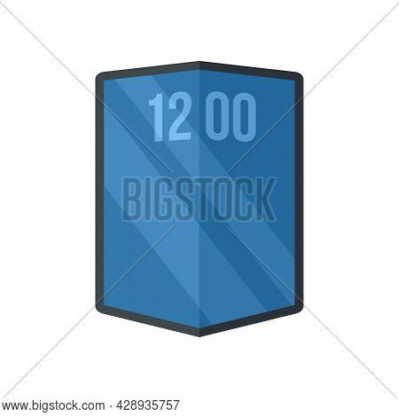 Flexible Gadget Screen Icon. Flat Illustration Of Flexible Gadget Screen Vector Icon Isolated On Whi