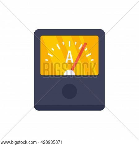 Ampere Meter Device Icon. Flat Illustration Of Ampere Meter Device Vector Icon Isolated On White Bac