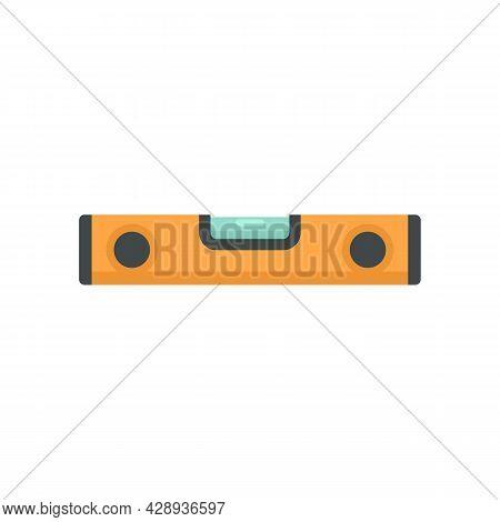 Construction Level Bar Icon. Flat Illustration Of Construction Level Bar Vector Icon Isolated On Whi