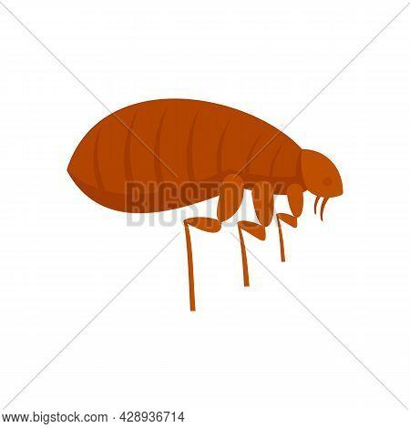 Parasite Bug Icon. Flat Illustration Of Parasite Bug Vector Icon Isolated On White Background