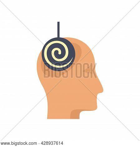 Hypnosis Treatment Icon. Flat Illustration Of Hypnosis Treatment Vector Icon Isolated On White Backg