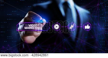 Video Marketing Social Media Advertising Advertisement Strategy Business Concept