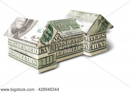 Purchase And Sale Of Housing. Mortgage For The Purchase Of A House. Rental Property. House Made From