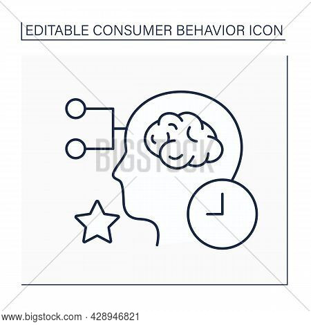 Limited Decision-making Line Icon.decisions About Purchases. Thinking About Buying Expensive Product
