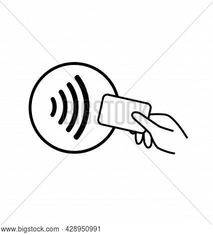 Contactless Payment Logo. Contactless Wireless Payment Logo Sign. Nfc Contact Technology