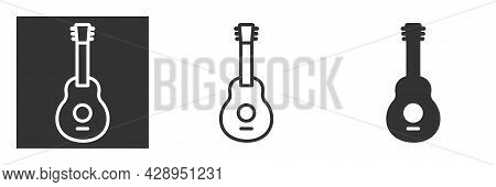 Guitar Icon Or Logo Isolated Sign Symbol Vector Illustration, Symbol Of Musical Instruments, Music A