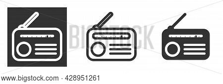 Radio Icon Or Logo Isolated Sign Symbol Vector Illustration - High Quality Black Style Vector Icons