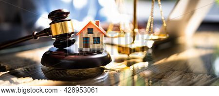 Real Estate Property Auction And Arbitration. Houses Litigation