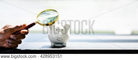 African Hand And Piggy Bank. Money Security Deposit