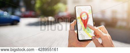 Location Based Marketing And Gps Map Search On Phone