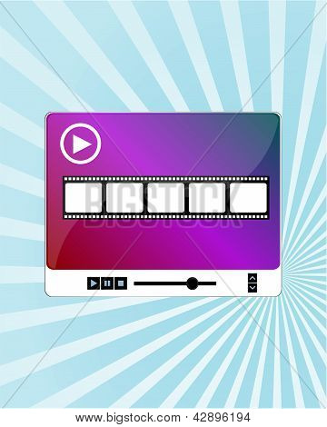 Video Movie Media Player On Blue Ray