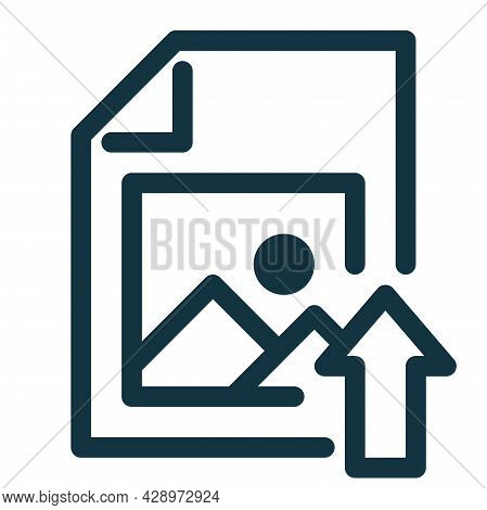 Image File Icon Upload, Image File Symbol. Photo Sign.