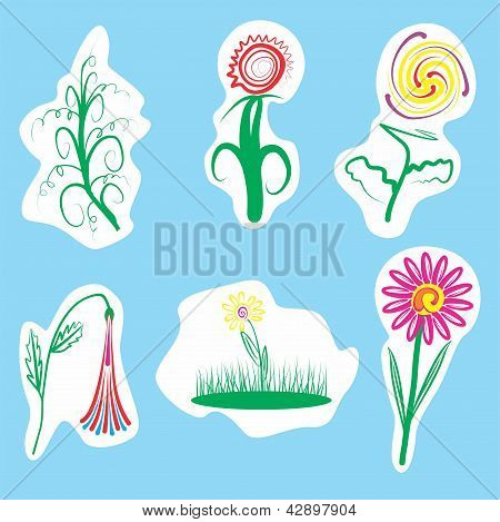 36 Illustration Of Flowers.eps