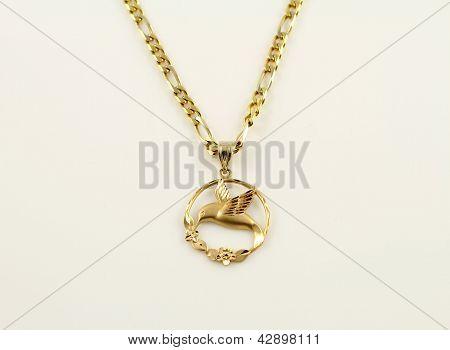 Hummingbird Gold pendant