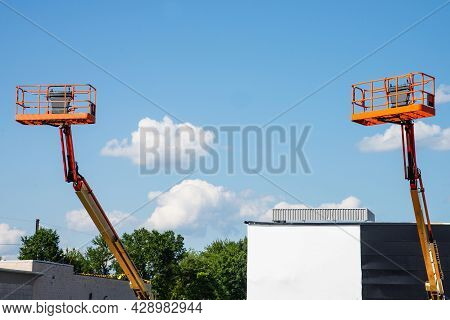 Telescopic Platforms Cranes Hydraulic Arms High Mobile Rental Elevating