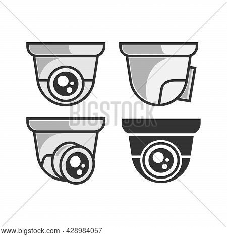 Cctv Vector. Set Of Cctv Camera Icons Isolated On White Background. Cctv Camera Icon Simple Sign. Cc