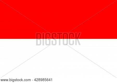 Flag Of Indonesia. Indonesian Flag. Illustration Of Indonesia Flag Icon