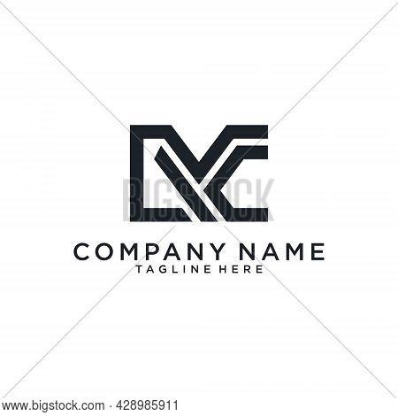 Mc Or Cm Initial Letter Logo Design. Mc Vector. Mc Icon.mc Logo