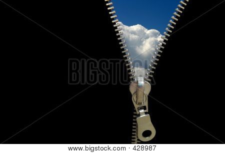 Zipper Concept. Discover The Sky. Hope And Faith.
