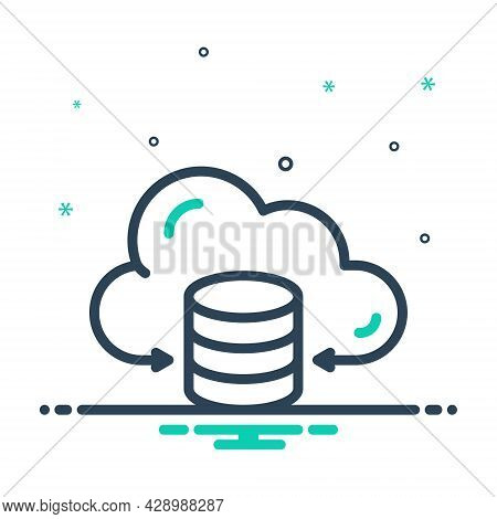 Mix Icon For Hosting Data Cloud Center Server Storage Receive Networking Provider Database Hardware