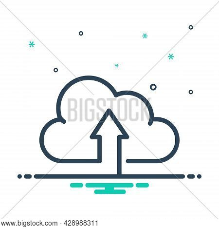 Mix Icon For Upload-to-cloud Hosting Web Internet Download Networking Technology Upload Website App