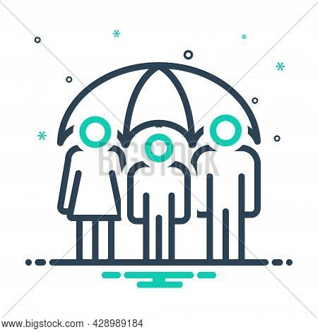 Mix Icon For Life-insurance Life Insurance Guarantee Allowance Group Reinsurance Provision People Sa