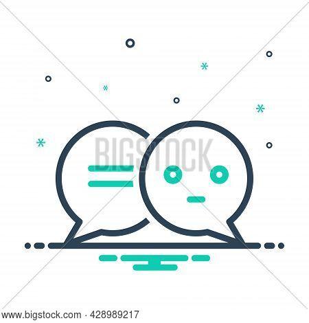 Mix Icon For Speech-bubbles Talk Gossip Dialog Speak Chatting Forum Communication Message Conversati