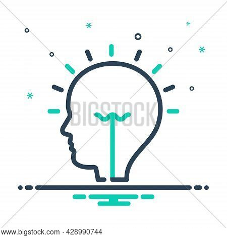 Mix Icon For Idea Conclusion Enterprising Visionary Concept Consideration Opinion Thought Suggestion