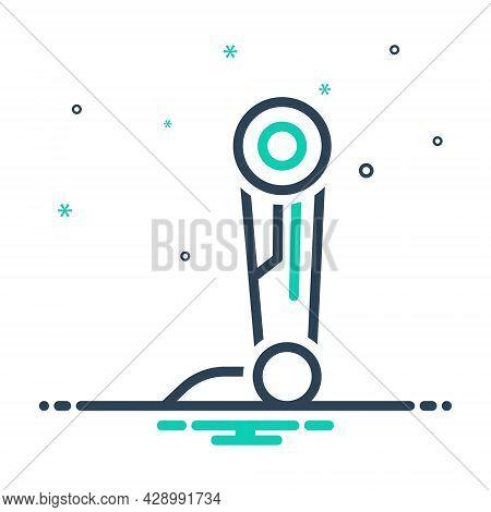 Mix Icon For Prosthesis Artificial Pegleg Fake Amputee Appliance Disability Helplessness