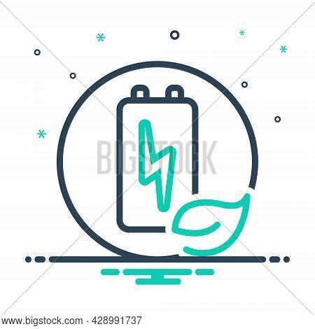 Mix Icon For Renewable-energy Renewable Energy Sustainable Inexhaustible Viable Limitless Bountiful